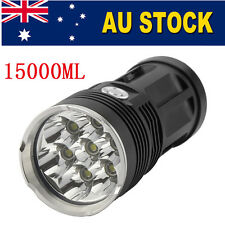 7 CREE XM-L T6 LED Zoomable 15000Lm 18650 Rechargeable Battery Flashlight Torch
