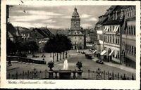 Gotha Hauptmarkt Rathaus Brunnen Echt Fotografie Ansichtskarte Postkarte AK PK