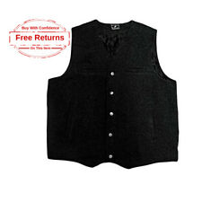 LARGE Wyoming Traders Classic Fit Wool WESTERN COWBOY VEST, Black