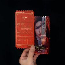Mulan korea Megabox Original Limited movie ticket