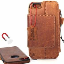 Genuine real leather Case for iPhone 6s Plus wallet Removable magnetic handmade