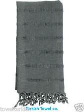 Turkish Towels Peshtemal Hammam Stonewash Grey 100% Cotton Brand New Quality