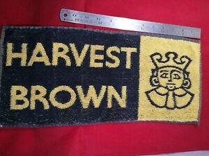 Harvest Brown Ale bar towel vintage. 1970s used.