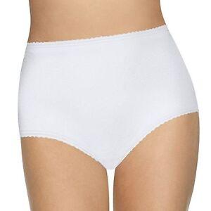 BALI Cool Skamp Cotton/Spandex Full-Cut White Brief Size 9/2XL