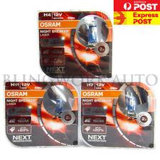 OSRAM H4 H7 H11 Night breaker LASER +150% Halogen Light for Ford Falcon FG MK1