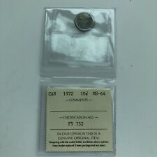 1972 CANADA 10 CENTS***GRADED***MS 64***L@@K***Combined Shipping***L@@K***