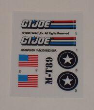 GI Joe Tri-Blaster Tri Blaster Sticker Decal Sheet