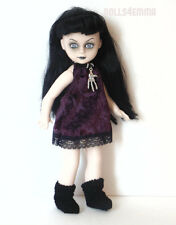 Living Dead Doll Clothes Custom Goth Black Dress Boots Necklace Fashion No Doll