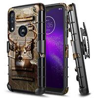 For Motorola Moto G Power Case Armor Shockproof Belt Clip Holster Phone Cover