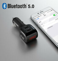 Bluetooth 5.0 Car FM Transmitter USB Charger For Samsung S10 S9 S8 S7 S6 Note 9