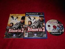 Tom Clancy's Rainbow Six 3 Original Black Label SONY PLAYSTATION 2 PS2 PAL en muy buena condición