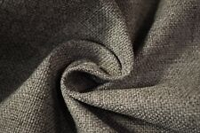 """Vintage Pewter Grey Canvas Tweed Fabric 55""""W Seat Upholstery Church Pew Auto"""