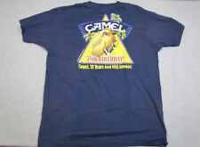 Vintage 1988 Joe Camel Smoking T-Shirt Screen Stars 50/50 Blue 75th Birthday