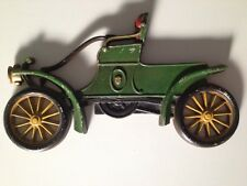 ☀ Antique Sexton Cast Metal Iron GREEN CAR Wall Decoration 1960s Collectible