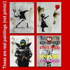 BANKSY BUY 3 GET 1 MORE FREE OFFER (TOTAL 4) *THIS IS A FRAMED SPRAY PAINTING*