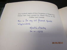 VARIATIONS ON THEMES FROM HORACE MARTIN HARVEY SIGNED LIMITED EDITION HARDBACK