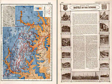 World war I map + article & pictures ~ western front battle of the