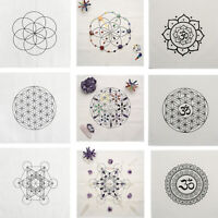Crystal Grid Cloth Cotton Altar Metaphysical Healing Array Sacred Geometry