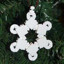New Genuine LEGO Christmas Ornament Snowflake with Instructions