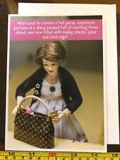 Perfume Packed Diary Now Kiddy Snot Rags Doll Blank Funny Card New with Envelope