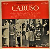 """CARUSO  """"Immortal Performances 1904 - 1906""""  Vinyl LP  RCA Victrola  VIC-1430"""