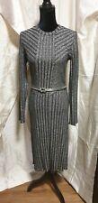 H&M Glitter Long Sleeve Bodycon Dress, NWT, Size M