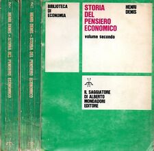 STORIA DEL PENSIERO ECONOMICO HENRI DENIS IL SAGGIATORE 2 VOLUMI (KA965)