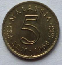 Malaysia 5 sen 1968 coin (High Grade)