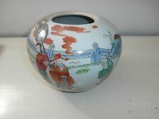 vaso cinese porcellana dipinta Famille Rose Marcato Ottimo Famiglia Rosa