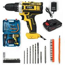 21V Cordless Electric Drill with Battery 30pcs Electric Screwdriver Drill Set US