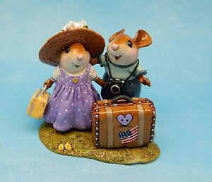 Wee Forest Folk THE HONEYMOONERS, I Love WFF Club Piece 2016 Camera Mouse