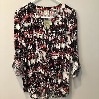Fig And Flower Anthropologie Peasant Blouse Boho TOP Plus Sz 2X and 100% Rayon