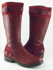 London Underground Womens Read My Lips Waterproof Boots Blood Red Size 8.5