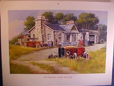 1932 Ford 3-Window Coupe, 32 Roadster abandoned junkyard barn-find Dale Klee art