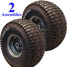 2) 15x6.00-6 15x600-6 15/6.00-6 15/600-6 Lawn Mower Tire Rim Wheel Assembly P34