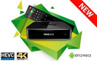 Infomir MAG 410 MAG410 UHD 4K Video IPTV OTT Streamer Box Android WiFi Bluetooth