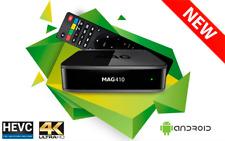 Infomir MAG 410 MAG410 UHD 4K Video IPTV OTT Streamer Box Android WiFi Blue