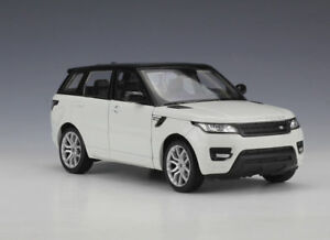 1:24 Welly Land Range Rover Sport White Diecast Model Sports Racing SUV Car Toy