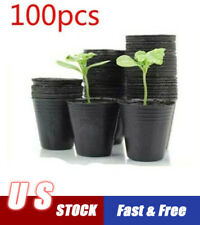 100pcs Garden Plant Nutrition Pots Flower Seedlings Nursery Plastic Bowl Home US