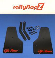"RallyflapZ Alfa Brera Kit de solapa frontal de barro-Negro 4 mm PVC ""Alfa Romeo"" Logo Rojo"