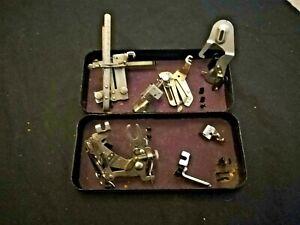 Vintage Singer Sewing Machine Accessories & Original Singer Tin