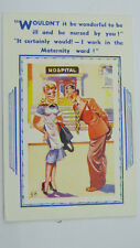 1950s Vintage Saucy Comic Postcard NHS Maternity Hospital Sexy Nurse Midwife