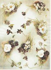 CIALDE di riso per decoupage Decopatch Scrapbook craft Sheet vintage Colorful Flower