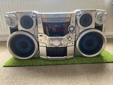 Panasonic SA-AK410 Hi-Fi Stereo System 5 CD Changer Double Tape EQ FM/AM Tuner