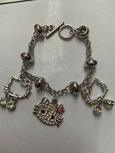 """New Hello kitty bracelet 7""""inch with Charms"""