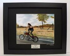 Indian Larry Paul Cox Bobber Signed Ltd Edition Framed Motorcycle Print Wall Art