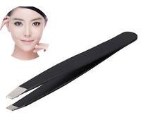 Useful Professional Stainless Steel Eyebrow Tweezers Hair Beauty Slanted Tweezer