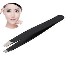 Useful Professional Stainless Steel Eyebrow Tweezers Hair Beauty Slanted Tweezer