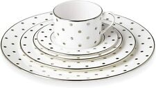 Kate Spade Lenox Larabee Road Platinum 5 Piece Place Setting Set Polka Dot