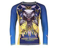 Tatami Fightwear Men's Honey Badger V5 Rash Guard MMA BJJ Blue XL *RARE DESIGN!*